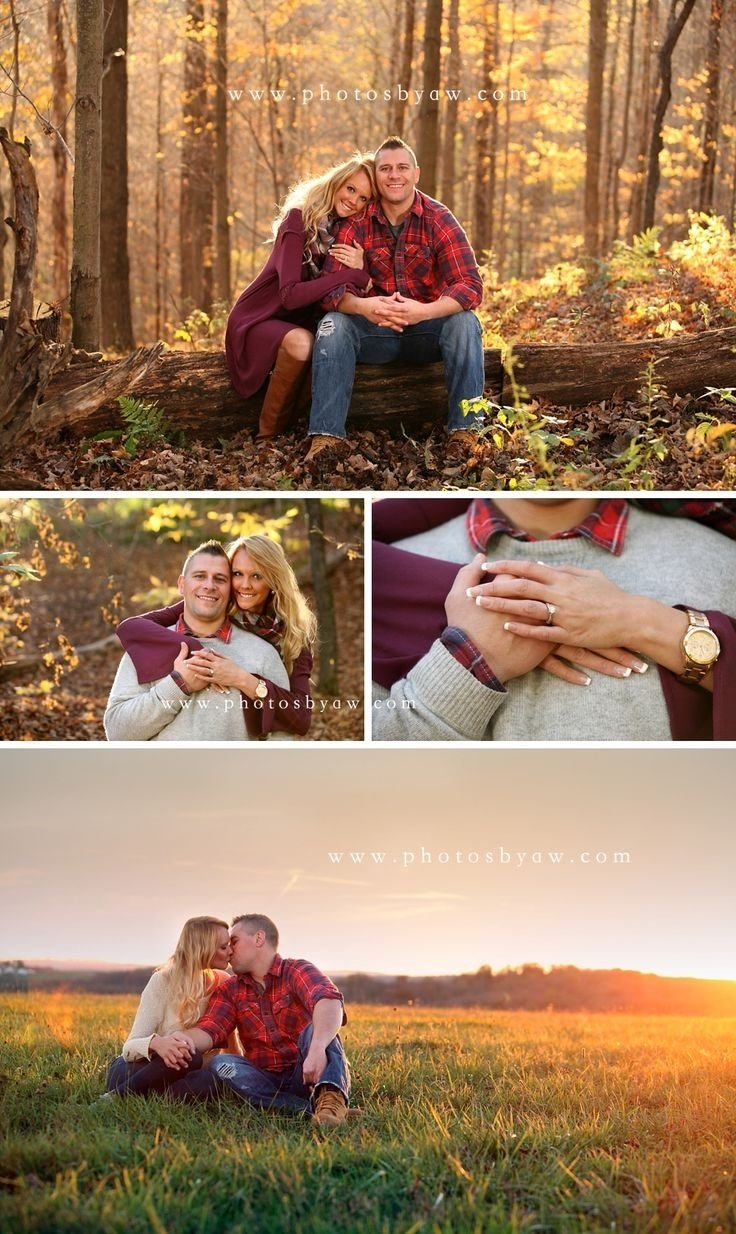 10 Most Recommended Fall Photo Shoot Outfit Ideas outdoor engagement photo ideas poses in the spring kissing 2020