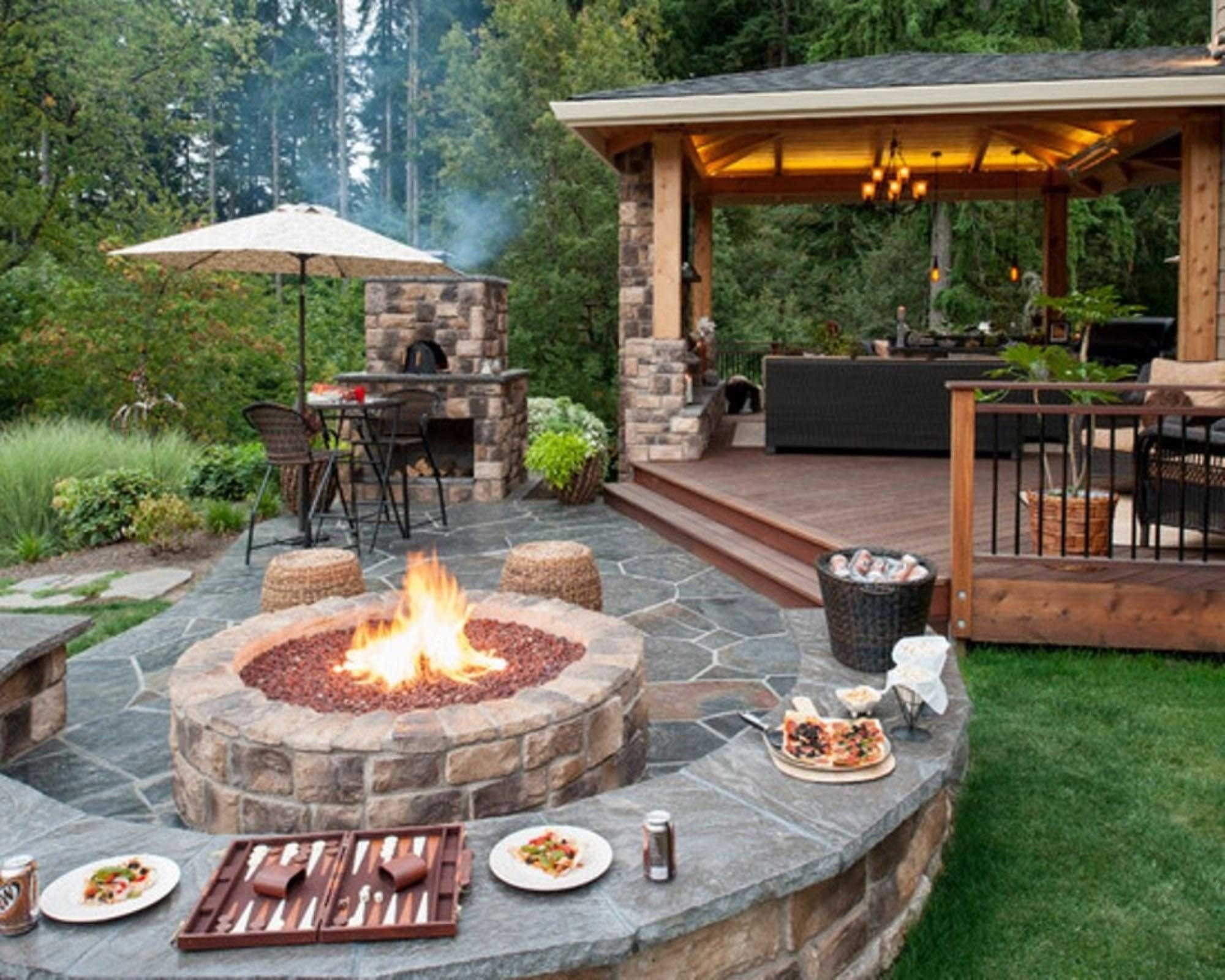 10 Fantastic Outdoor Patio Ideas With Fire Pit outdoor patio ideas with fire collection and beautiful backyard 2020
