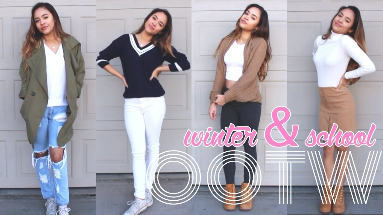 10 Nice Winter Outfit Ideas For School outfit ideas for school winter winter outfit ideas high school back 2020