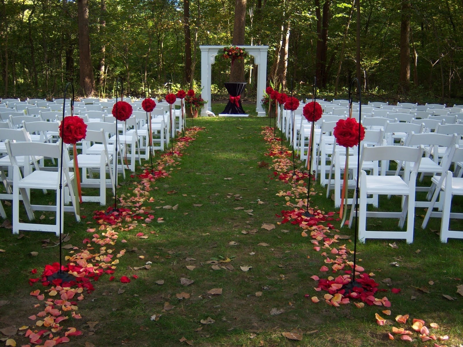 outside wedding decorations unique outdoor wedding decoration ideas