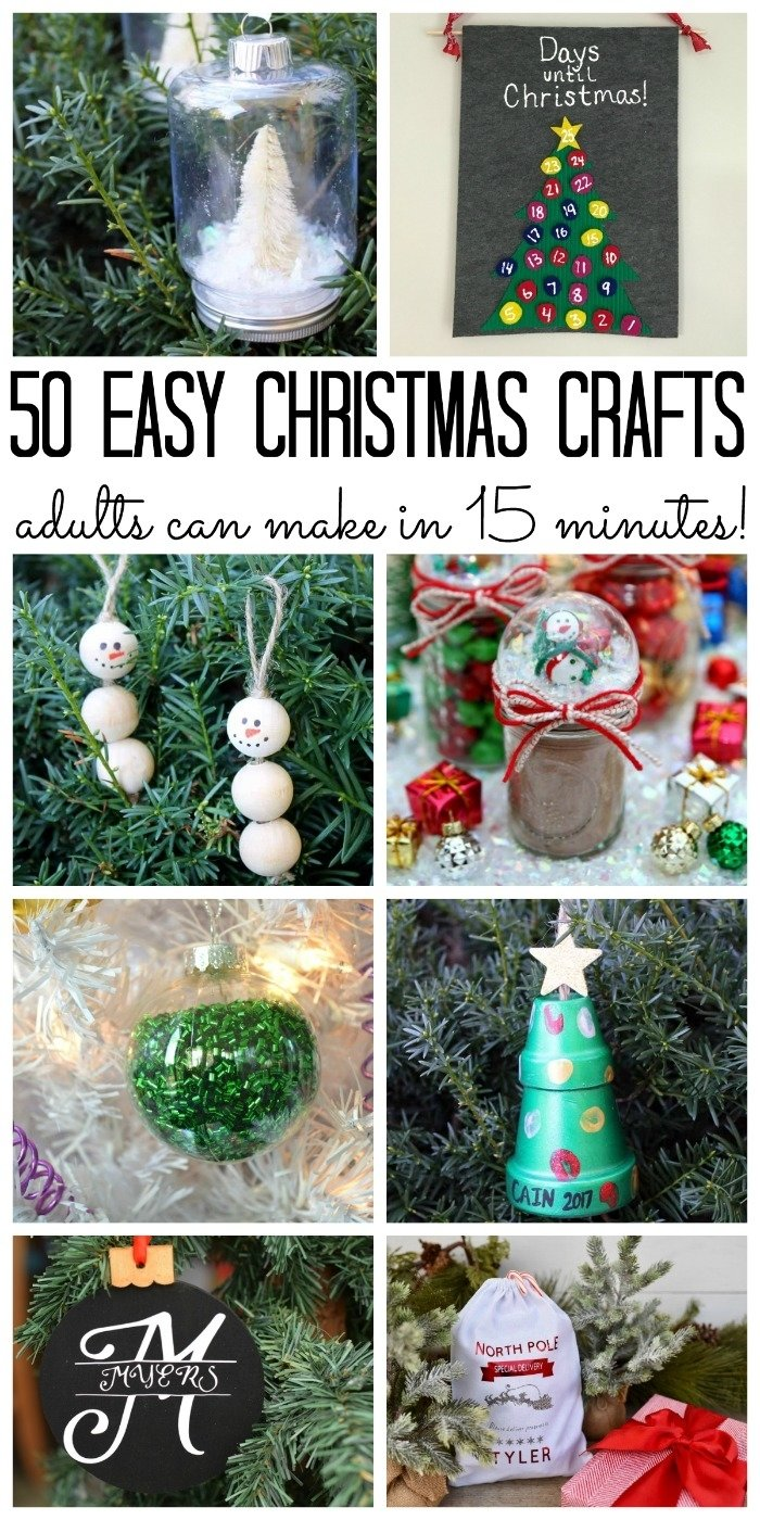10 Fabulous Christmas Crafts Ideas For Adults over 50 christmas crafts for adults the country chic cottage