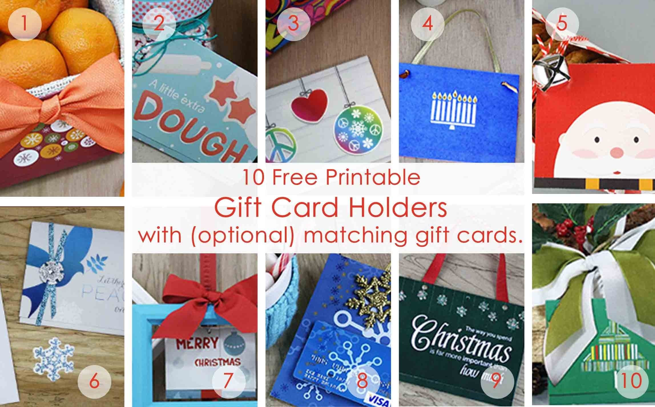 10 Ideal Ideas For Wrapping Gift Cards over 50 printable gift card holders for the holidays gcg 2020