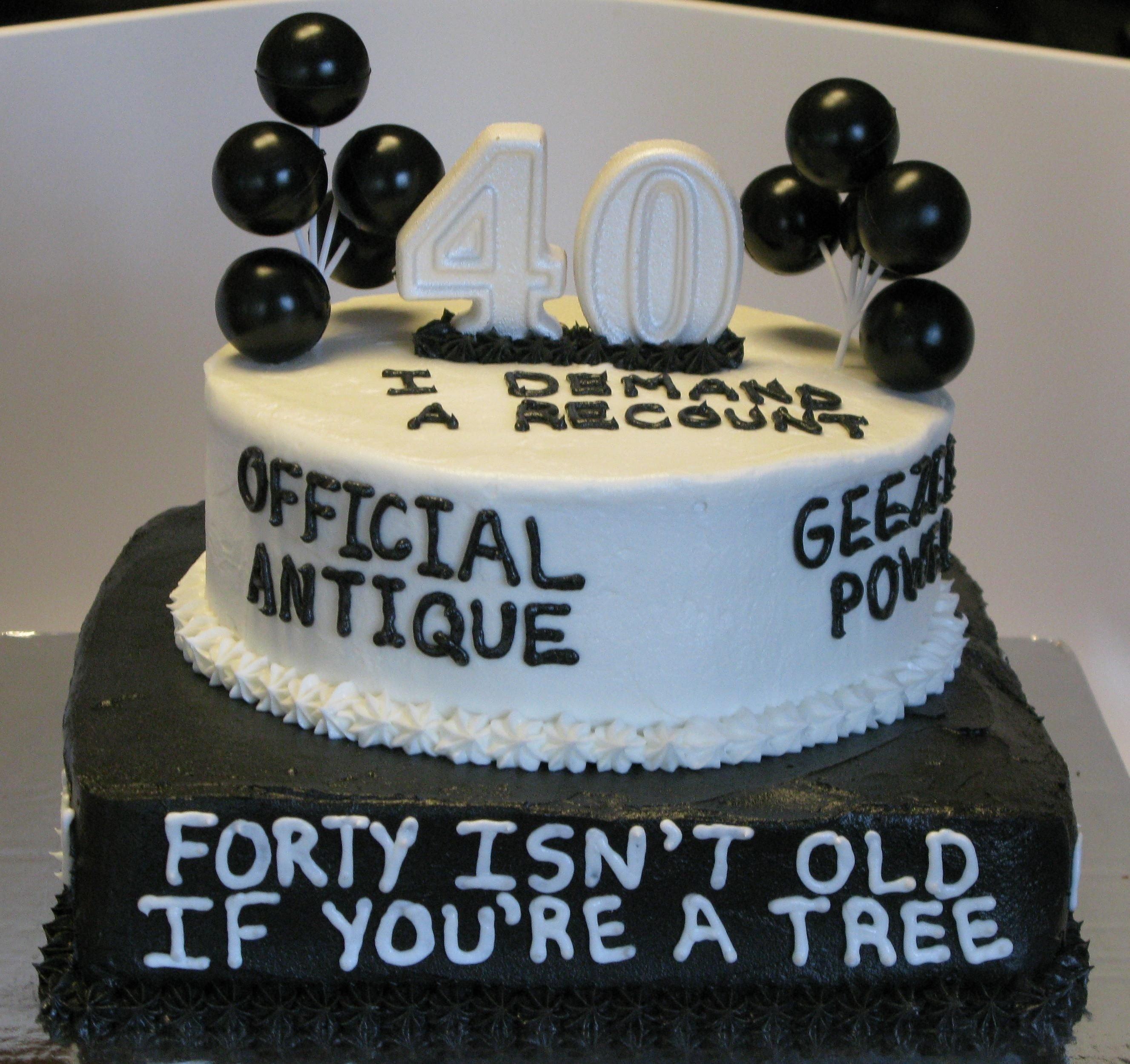 10 Stunning 40 Year Old Birthday Cake Ideas over the hill birthday cakes over the hill 40th birthday cake 2