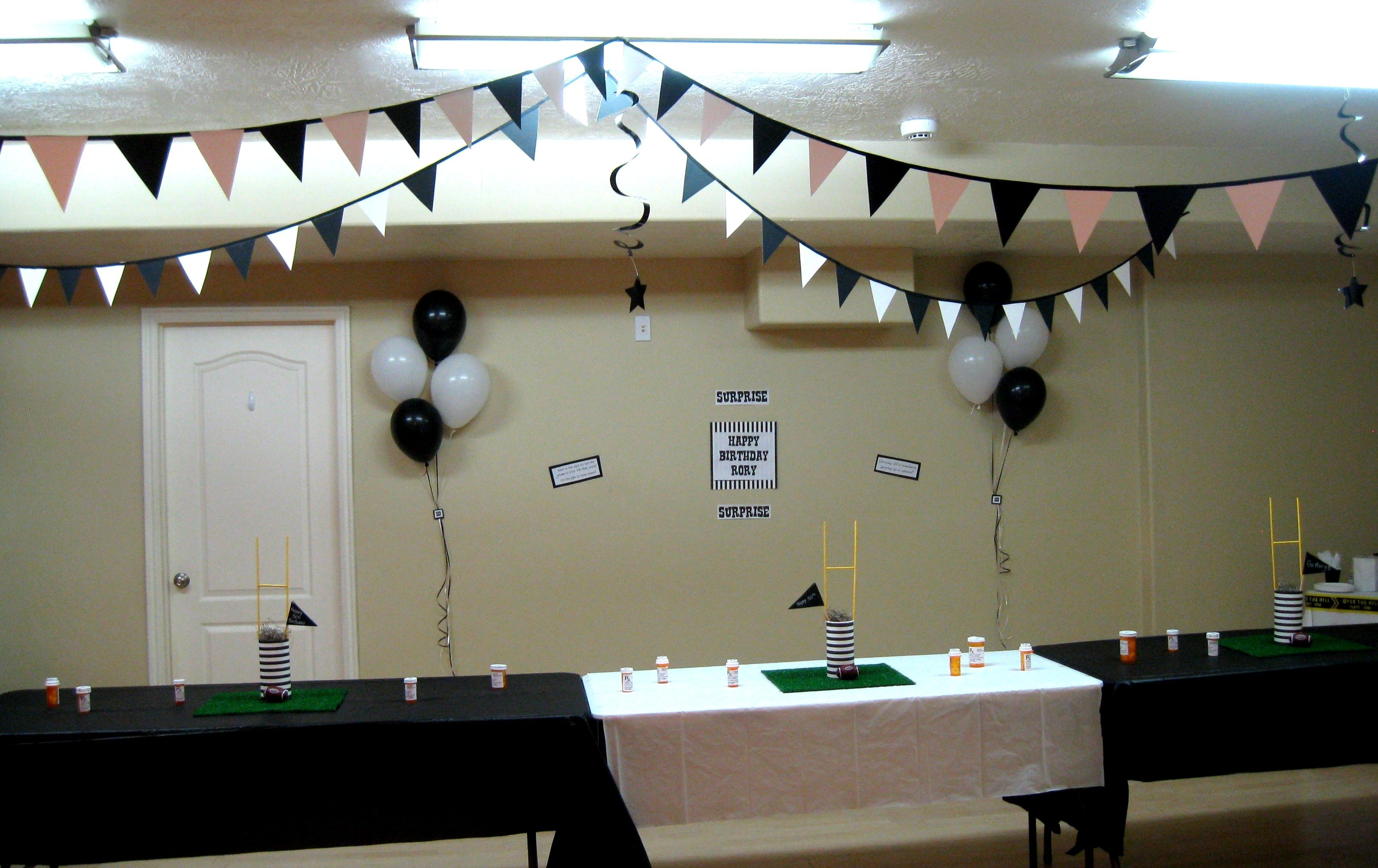 10 Fantastic Surprise Party Ideas For Adults over the hill rugby party thegalagals 4