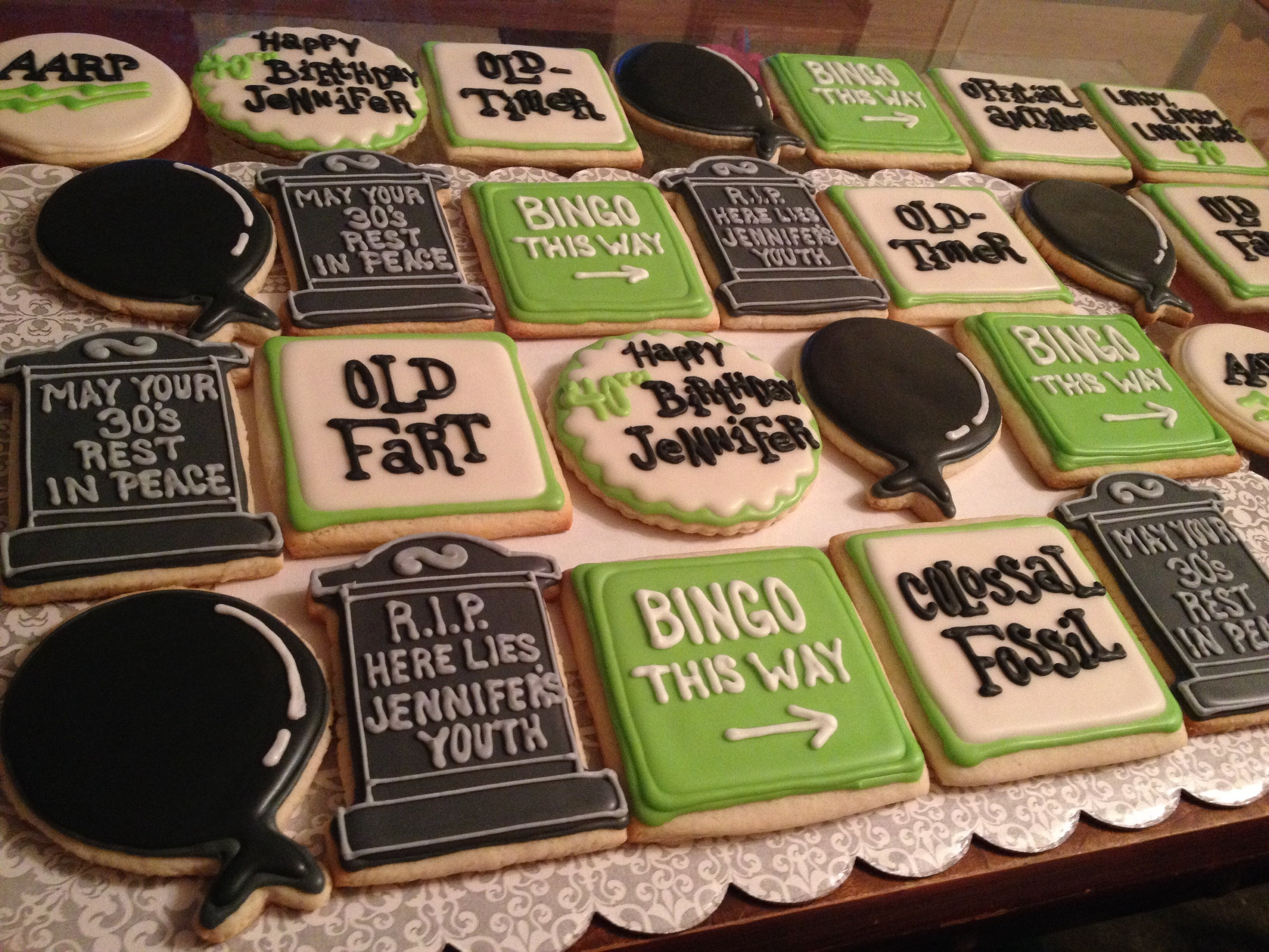 10 Elegant Over The Hill Birthday Party Ideas over the hill themed sugar cookies designer desserts pinterest 1 2020