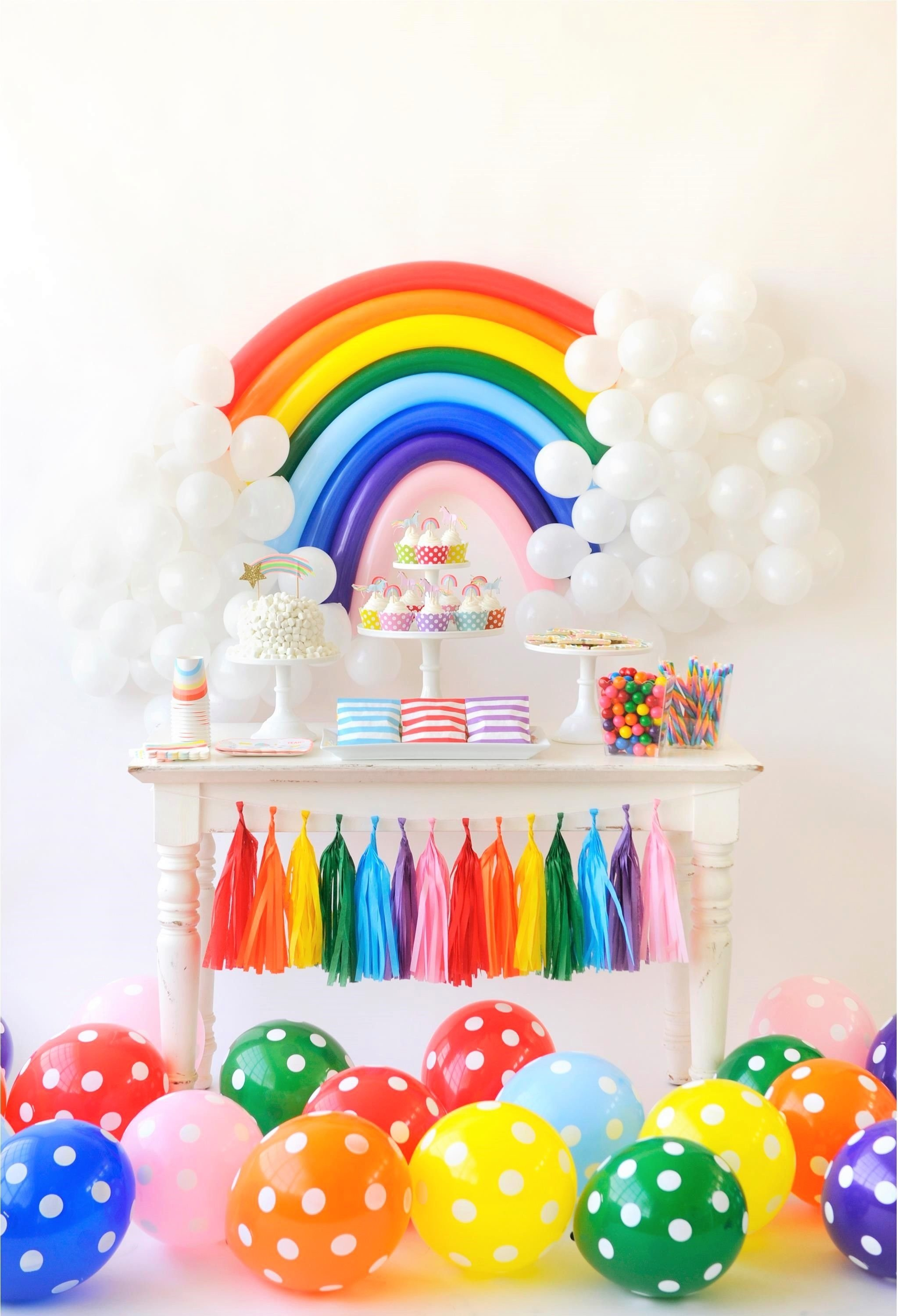 over the rainbow birthday party for kids | colorful birthday party