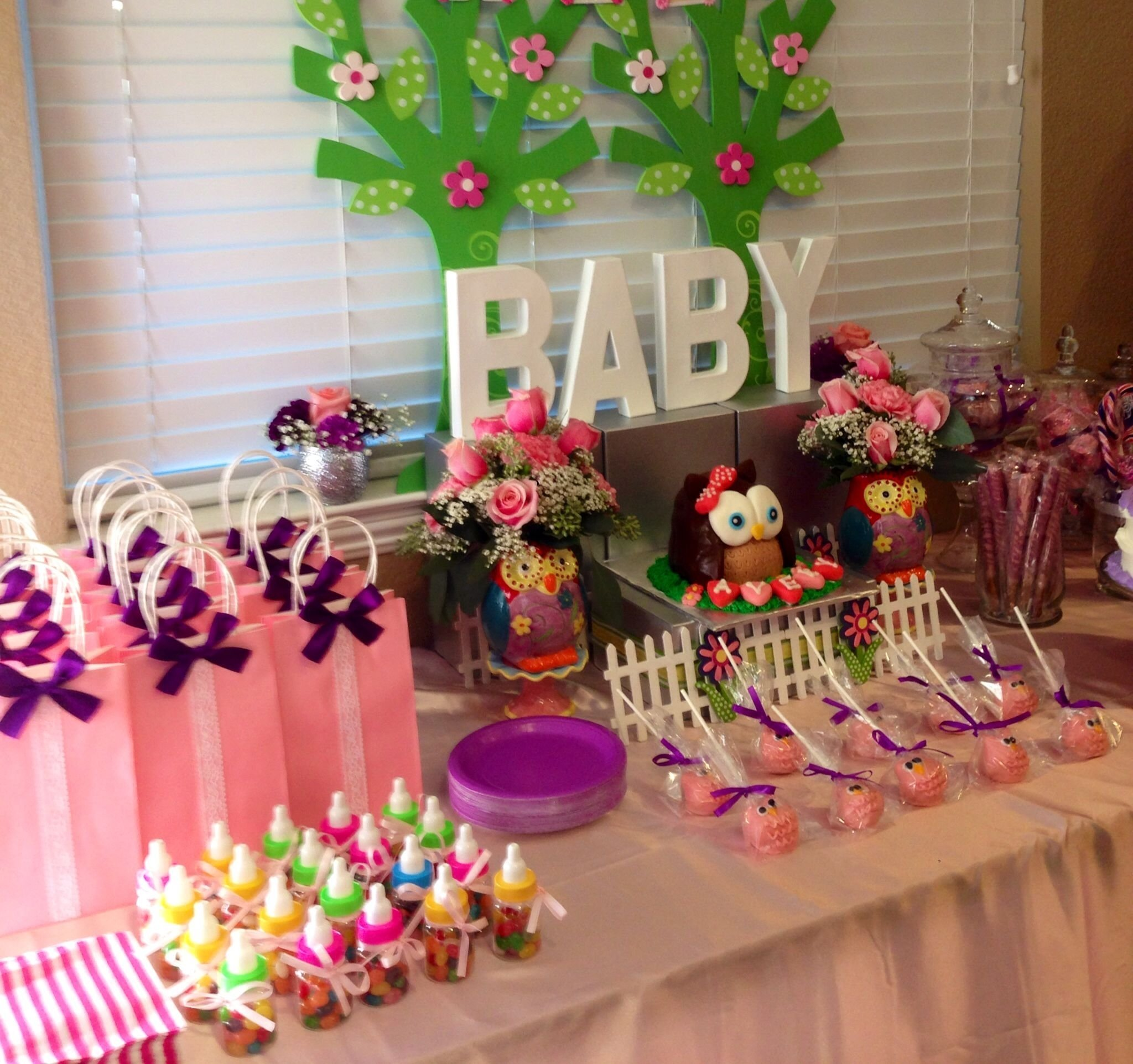 10 Attractive Candy Bar Ideas For Baby Shower owl baby shower candy bar owl baby shower candy bar pinterest 2 2020