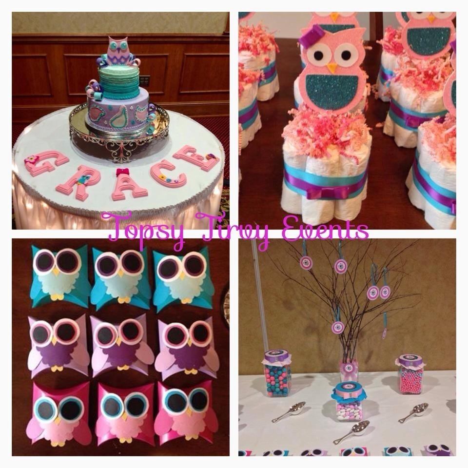 10 Famous Baby Shower Theme Ideas For A Girl owl baby shower decorations plans deboto home design owl baby 1 2020