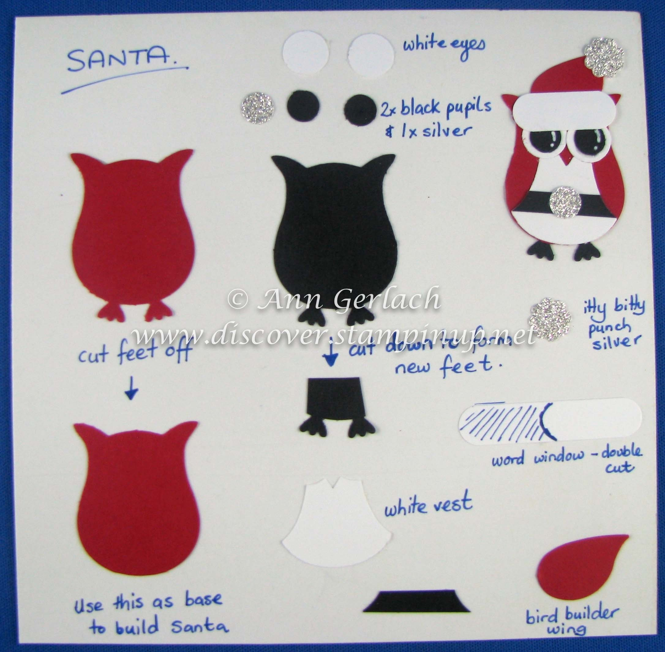 10 Elegant Stampin Up Owl Punch Ideas owl punch santa tutorial discover ink ann gerlach independent 2020