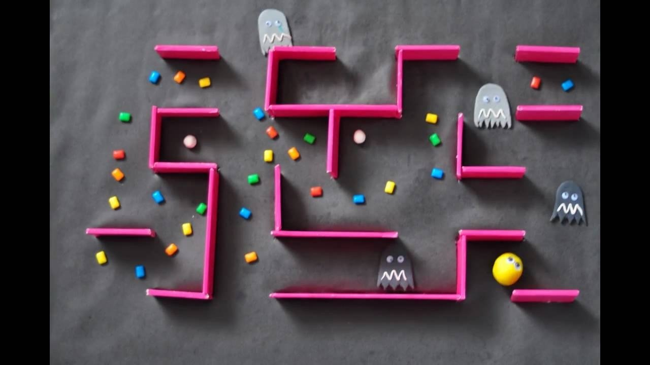 10 Stylish Ideas For Stop Motion Videos pac man stop motion youtube