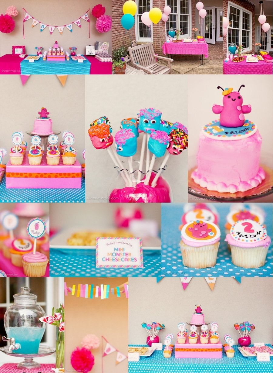 10 Wonderful 2 Year Old Girl Birthday Ideas pailyns monster bash girly monster party ideas lindeymagee blog 2020