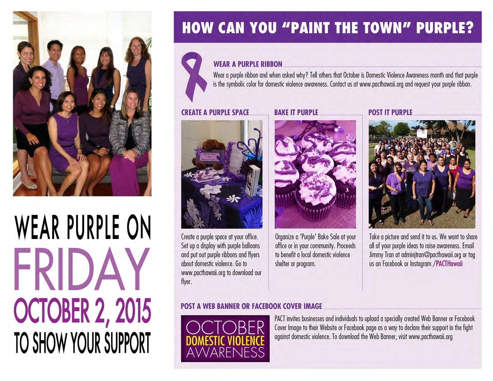 10 Attractive Domestic Violence Awareness Month Ideas paint the town purple for domestic violence awareness month hawai
