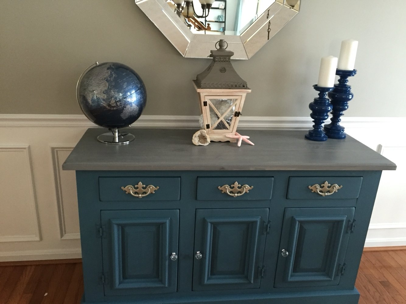 10 Pretty Annie Sloan Painted Furniture Ideas painted dining room buffet using annie sloan chalk paint aubusson 1 2020