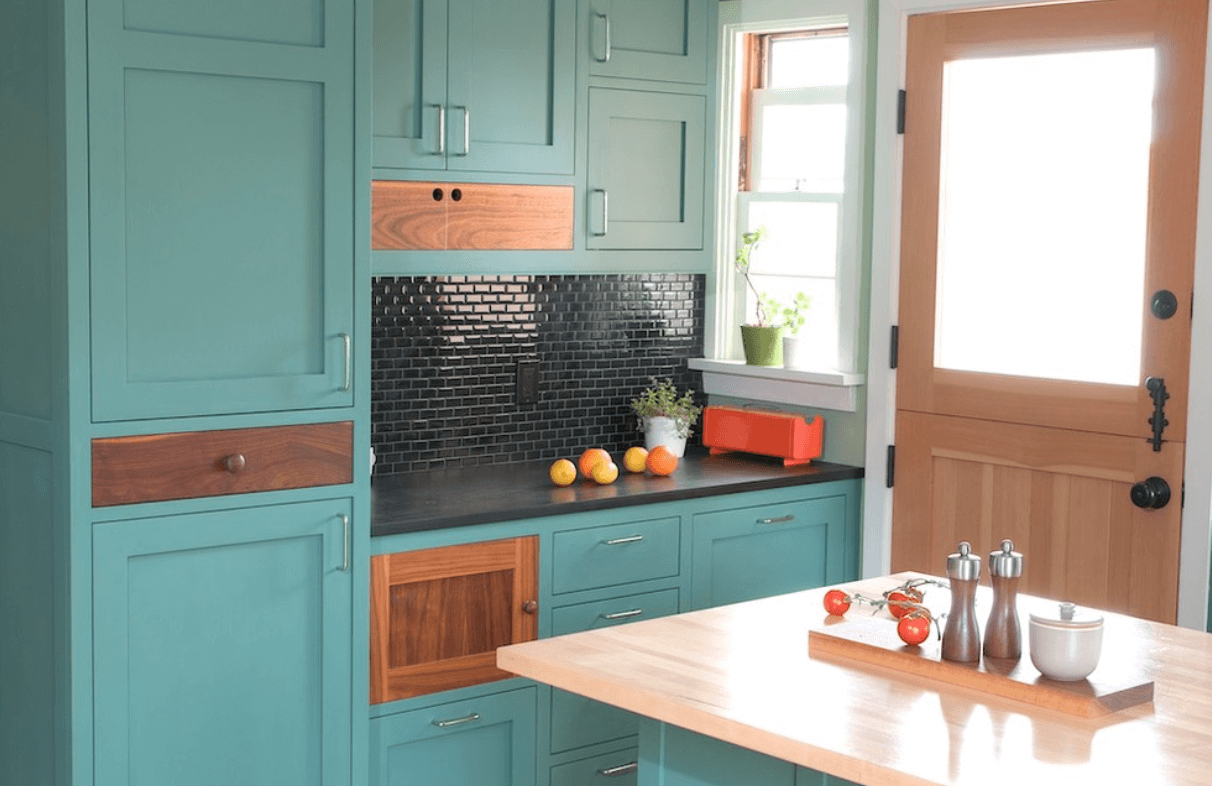 10 Stunning Ideas For Kitchen Cabinet Colors painted kitchen cabinet ideas freshome 1