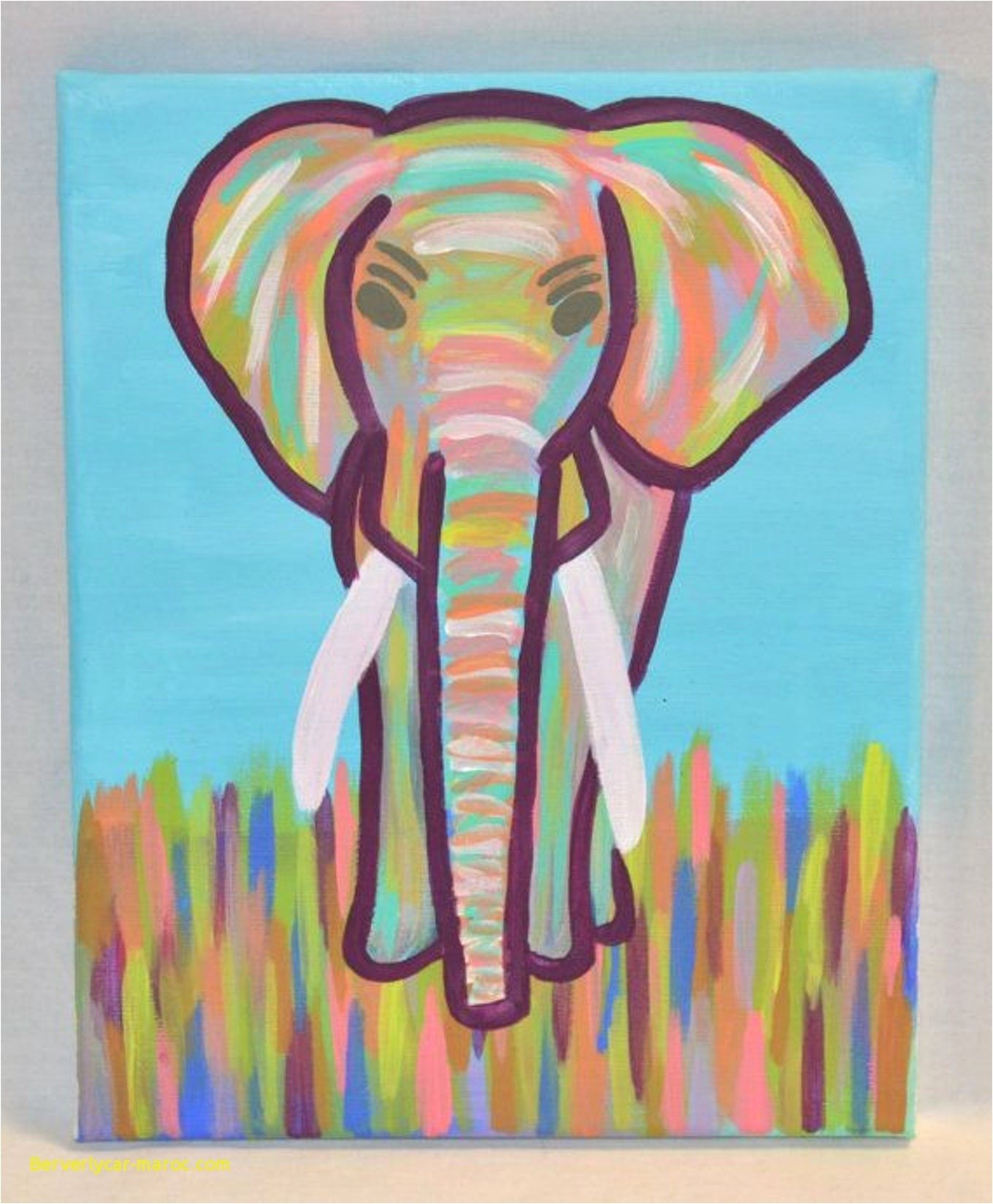 Paint Canvas Painting Ideas For Kids Easy