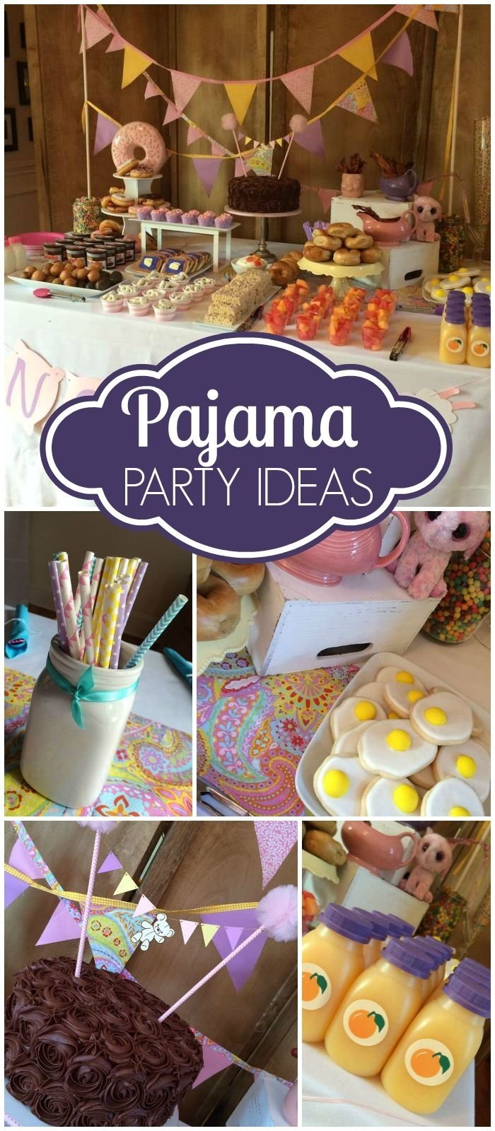 10 Most Popular Slumber Party Ideas For Tweens pajama party birthday pretty pj party pyjamas animal and