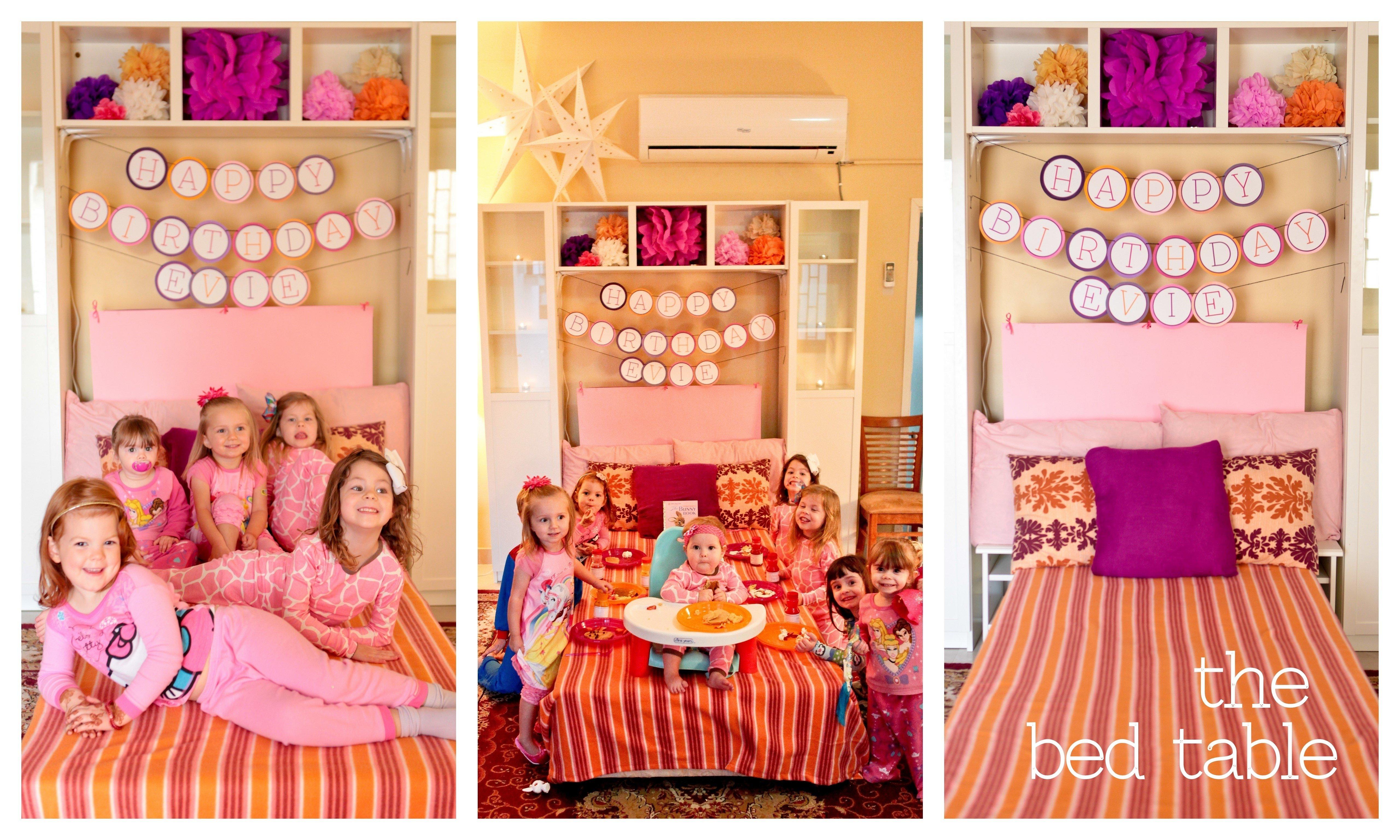 10 Amazing Pajama Party Ideas For Kids pajamas pancakes first birthday party