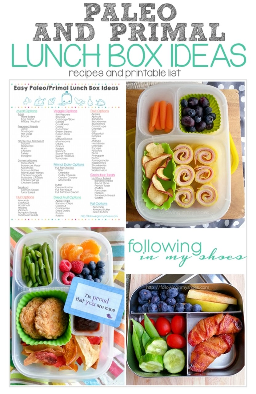 10 Wonderful Paleo Lunch Ideas For Kids paleo and primal lunch ideas and printable list http 2021