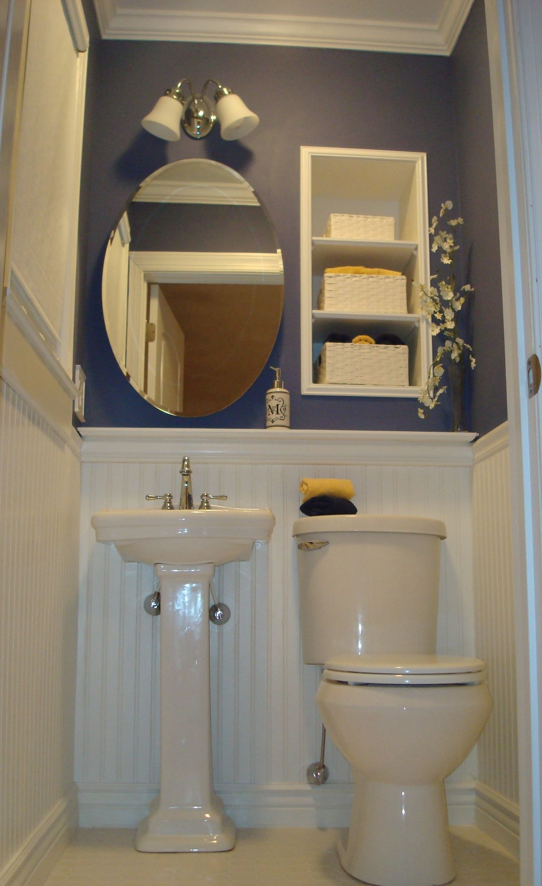 10 Cute Very Small Powder Room Ideas pallet wall in powder room designs powder room ideas designs 1