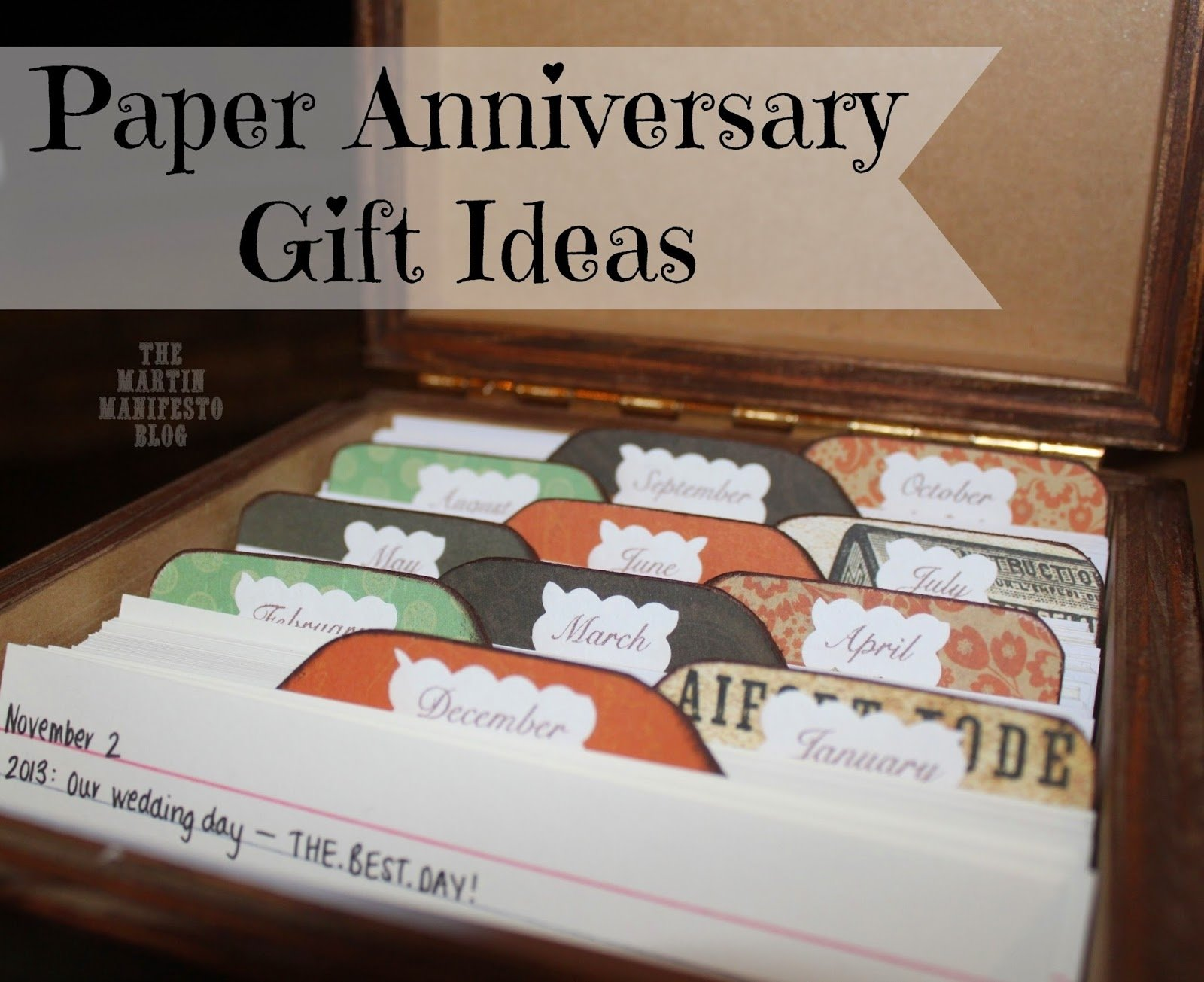 10 Stylish Ideas For First Anniversary Gift paper anniversary gifts for her college paper academic writing 3 2020