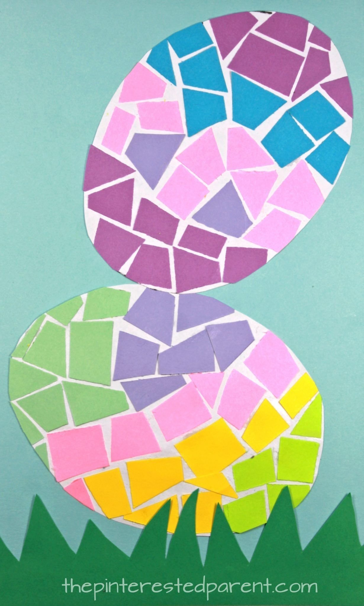 10 Fashionable Easter Arts And Crafts Ideas paper mosaic easter eggs paper mosaic easter art and construction 2021