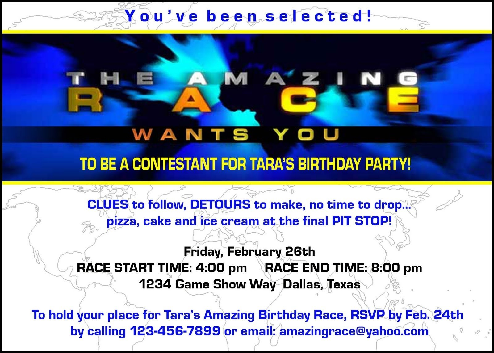 10 Wonderful Amazing Race Birthday Party Ideas paper perfection free amazing race birthday party invitation 2020