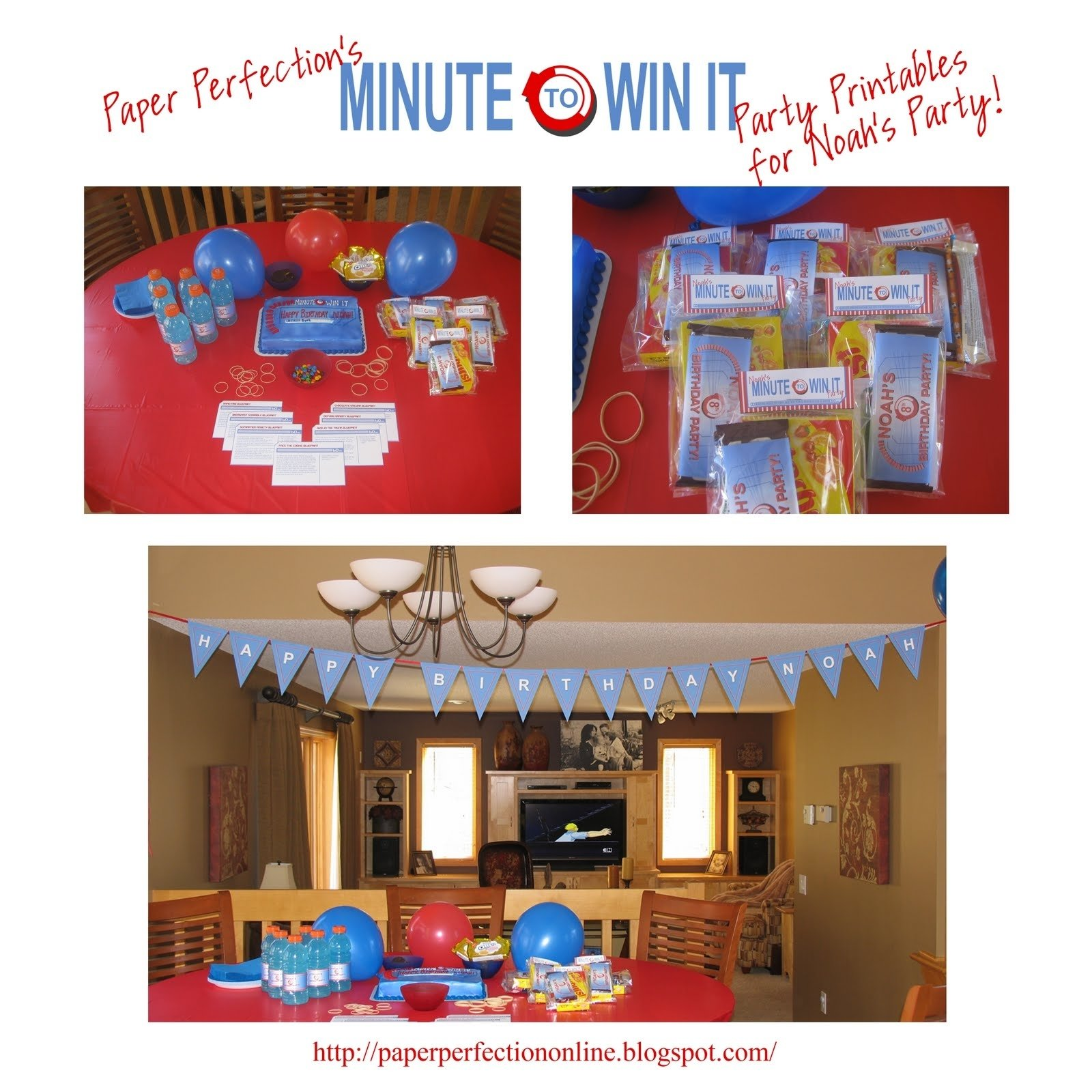 paper perfection: minute to win it party decorations, favors and