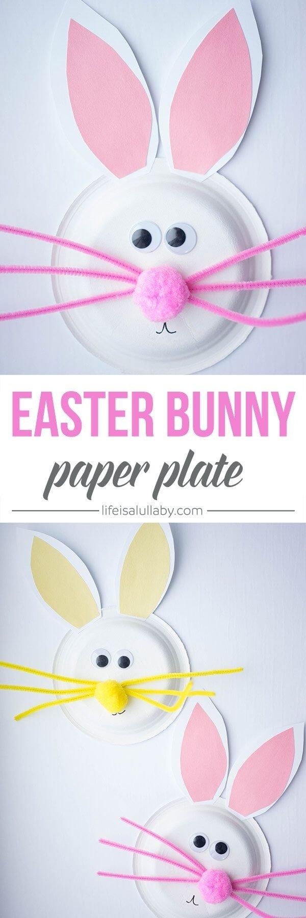 10 Unique Easter Craft Ideas For Preschoolers paper plate easter bunny craft easter bunny easter and bunny 2020