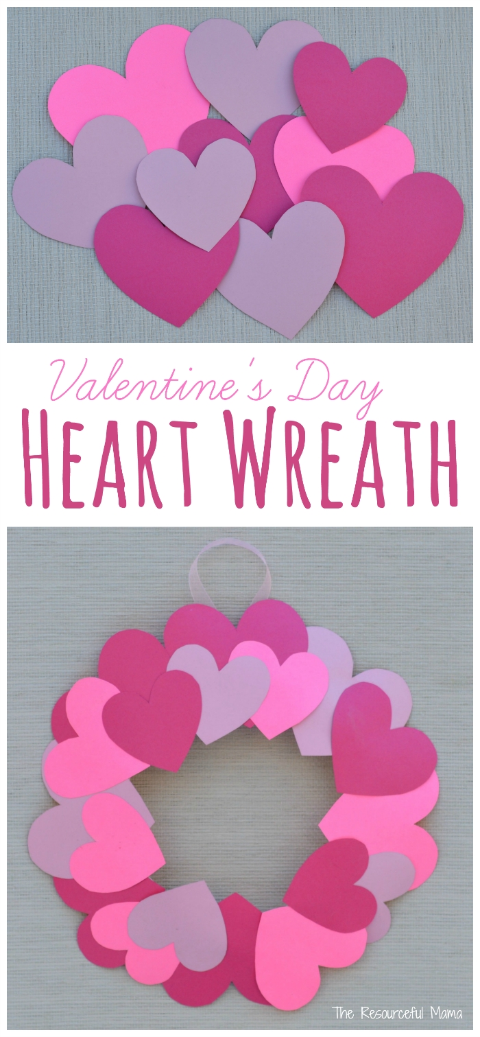paper plate valentine's day heart wreath craft | wreaths crafts