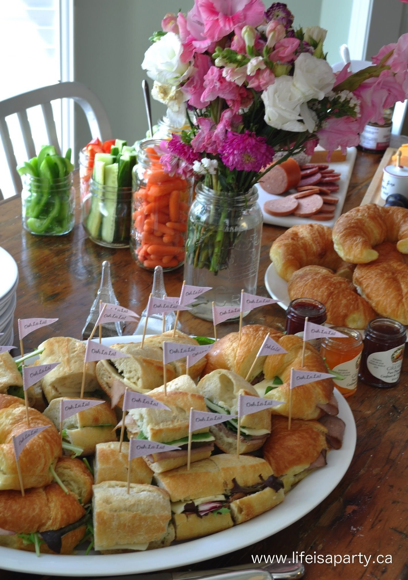 paris party food -a french themed menu great ideas of what to serve