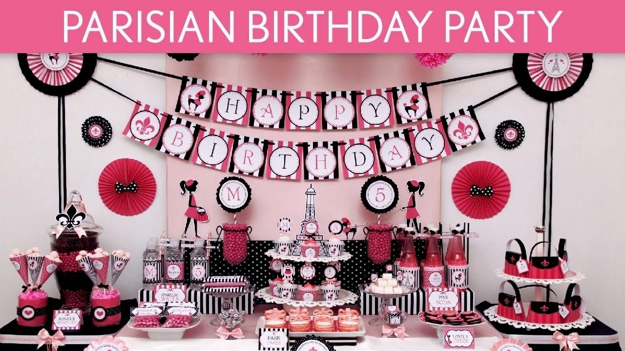 10 Pretty Ideas For A 13Th Birthday Party paris themed 13th birthday party ideas archives decorating of party 2021