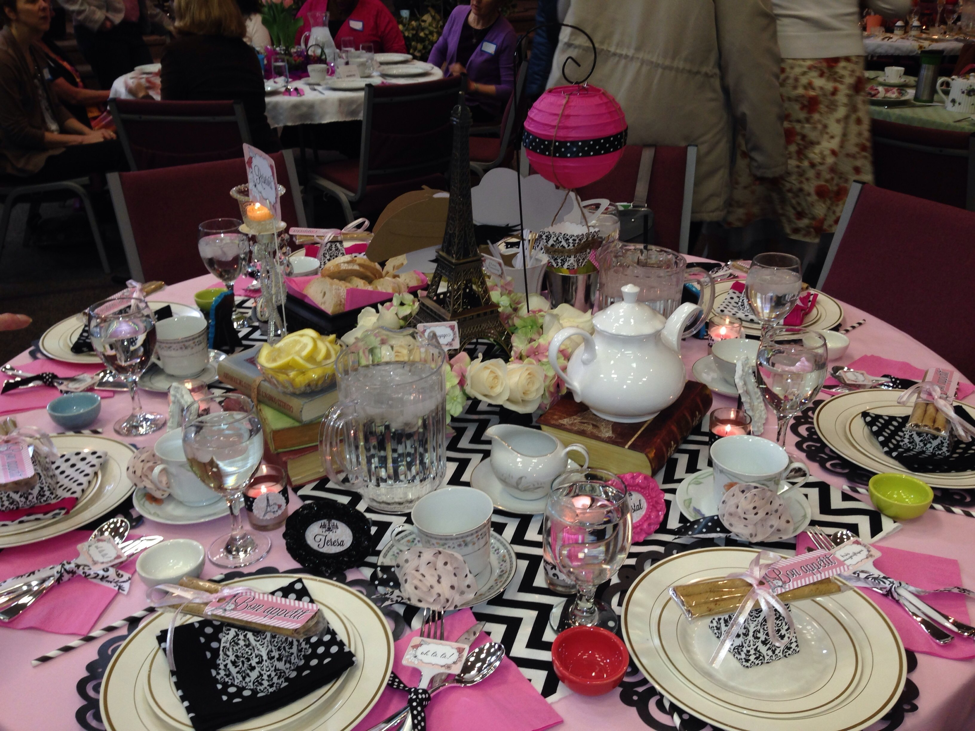 10 Ideal Tea Party Ideas For Women paris themed table for womens tea party event at church tea 2020