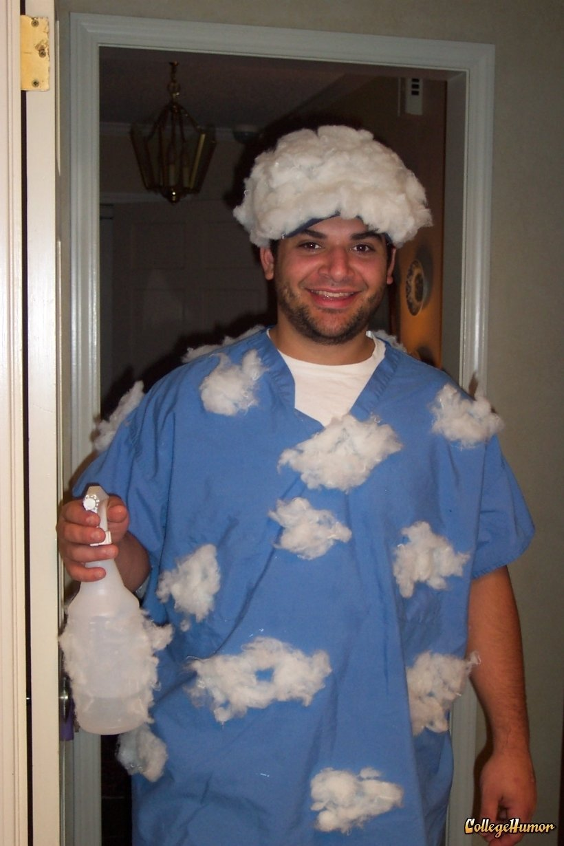 10 Pretty Cheap Funny Halloween Costumes Ideas partly cloudy with a chance of rain lol what a funny costume 2020