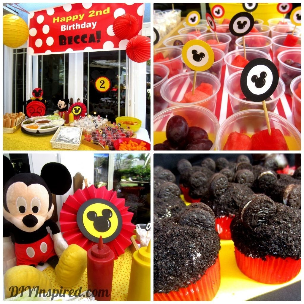 10 Trendy Mickey Mouse Theme Party Ideas party hat candy buffet table mickey mouse birthday pinterest 2020