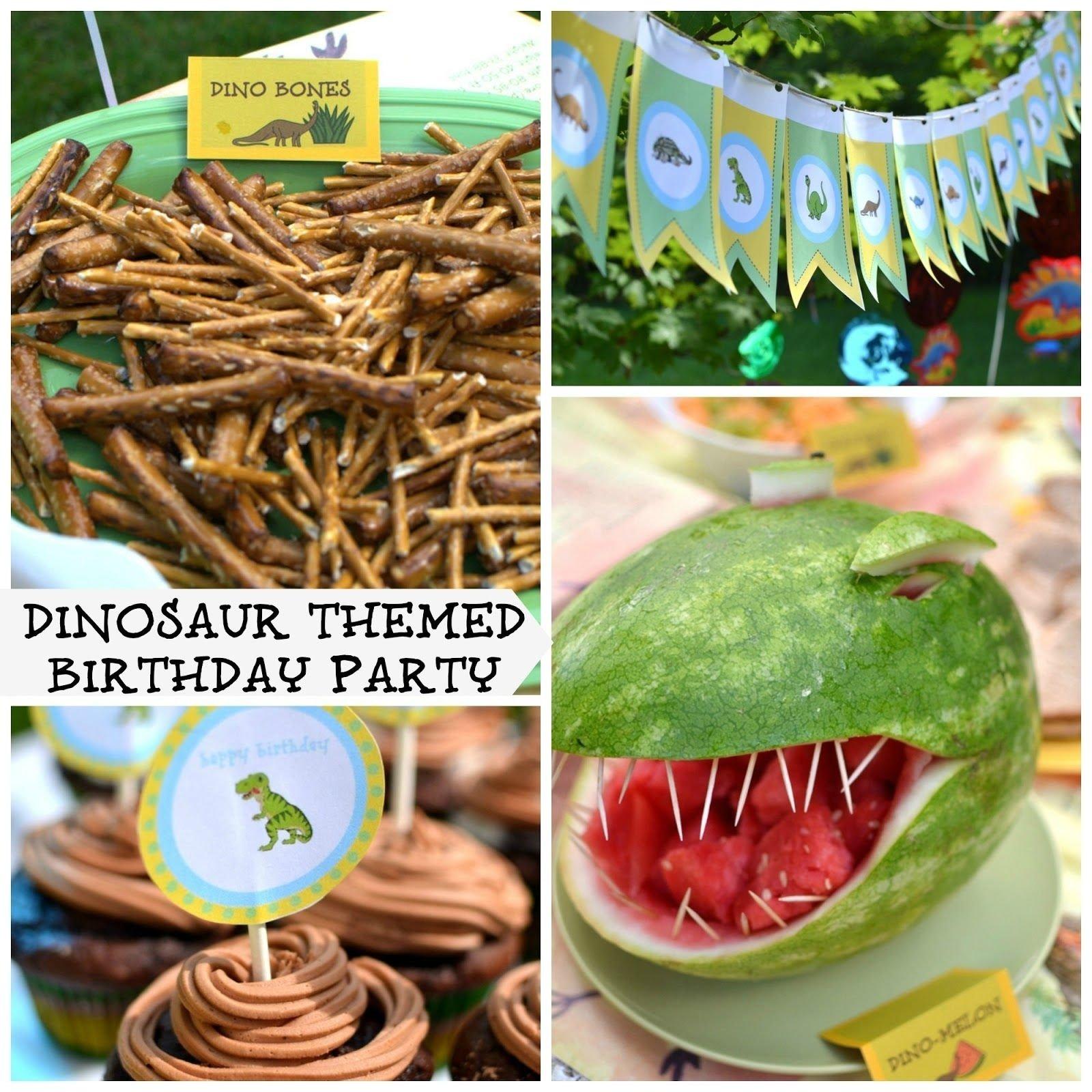 10 Gorgeous Dinosaur Birthday Party Food Ideas