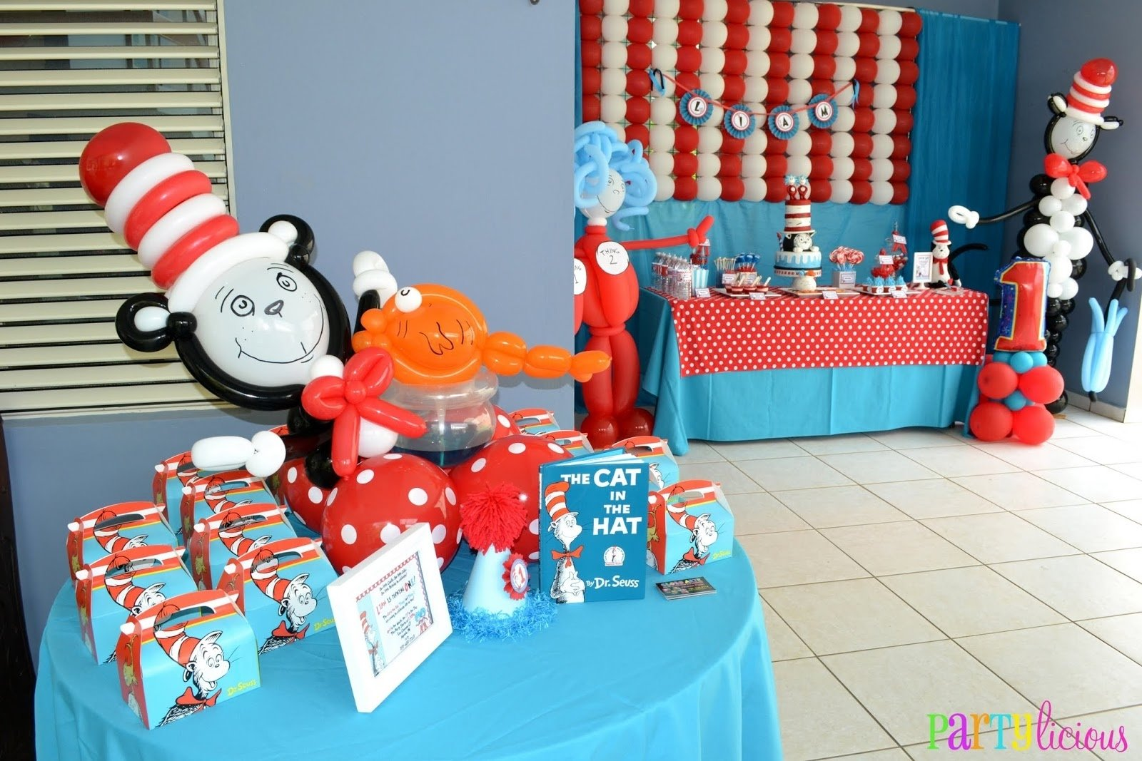 10 Beautiful Cat In The Hat Birthday Party Ideas partylicious events pr the cat in the hat 1st birthday 2020