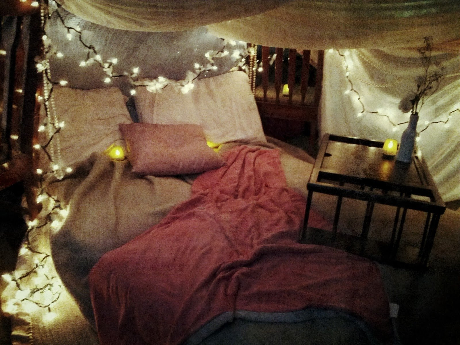 10 Trendy Romantic Ideas For Her At Home passion pink pearls date night idea grown up tent 2020
