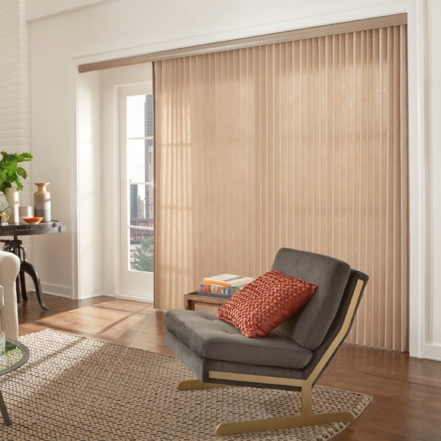 10 Elegant Window Treatments For Sliding Glass Doors Ideas patio door window treatments vertical grande room patio door 1 2020
