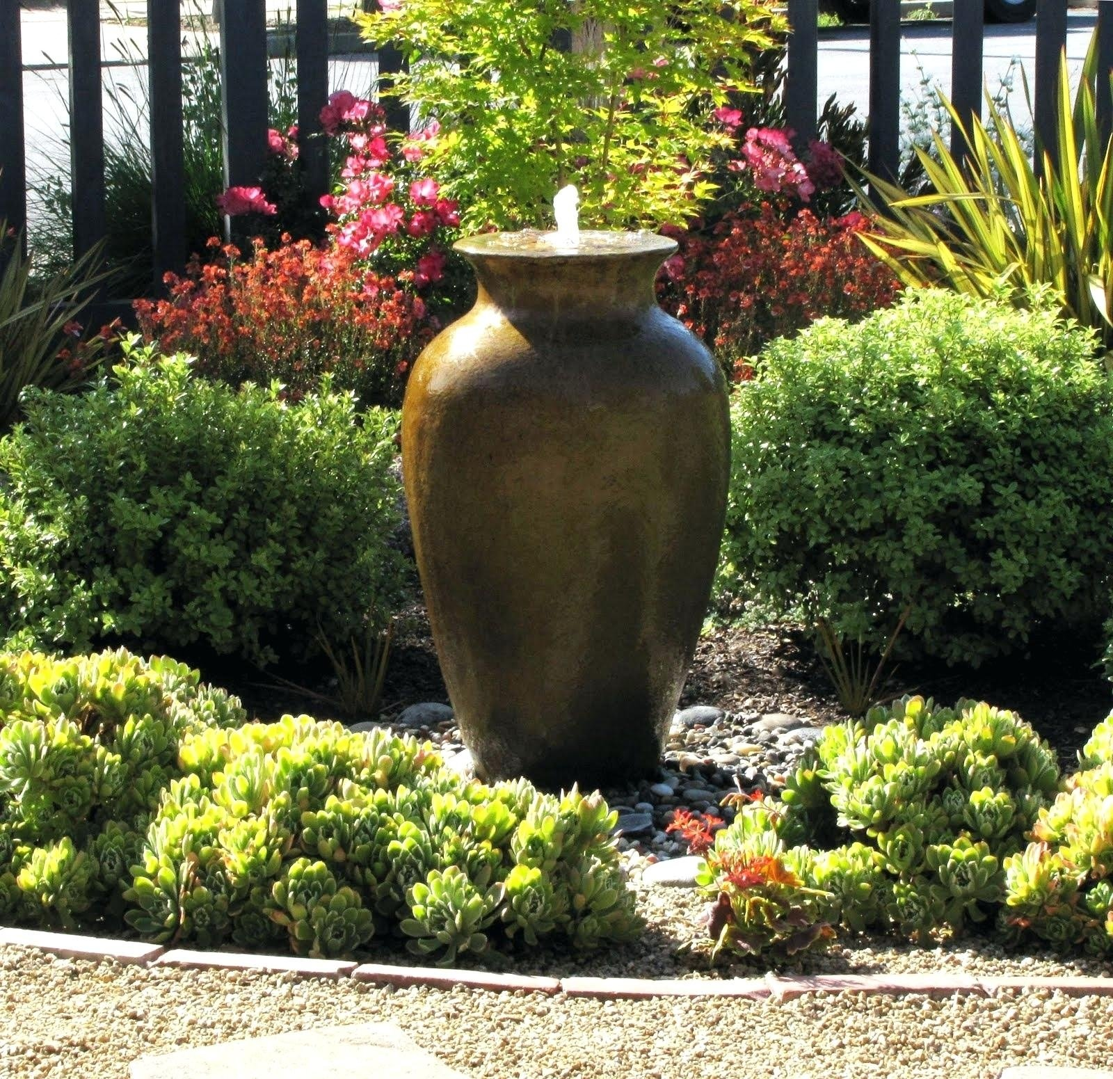 10 Perfect Water Feature Ideas For Small Gardens patio fountain ideas small front yard backyard water feature 2020