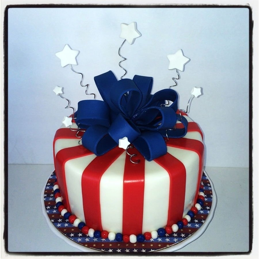 patriotic red , white & blue cake - cakecentral