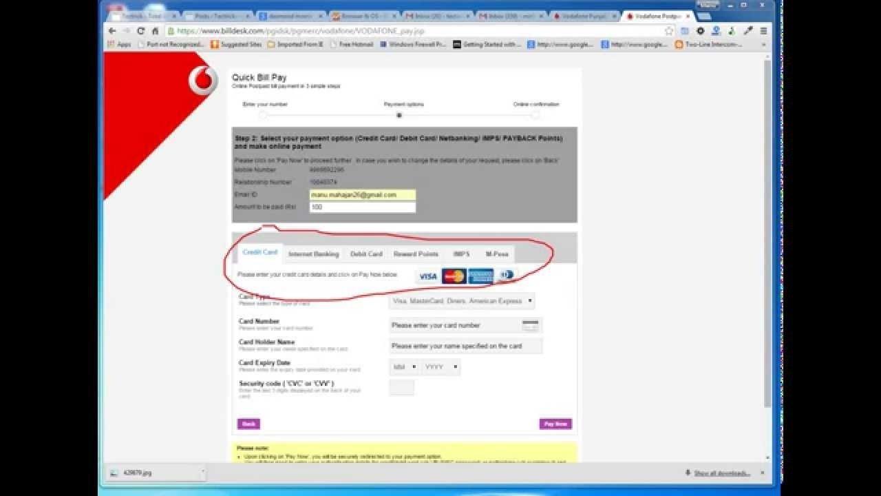 10 Fantastic Idea Postpaid Bill Payment Online pay vodafone postpaid bill online youtube 2020