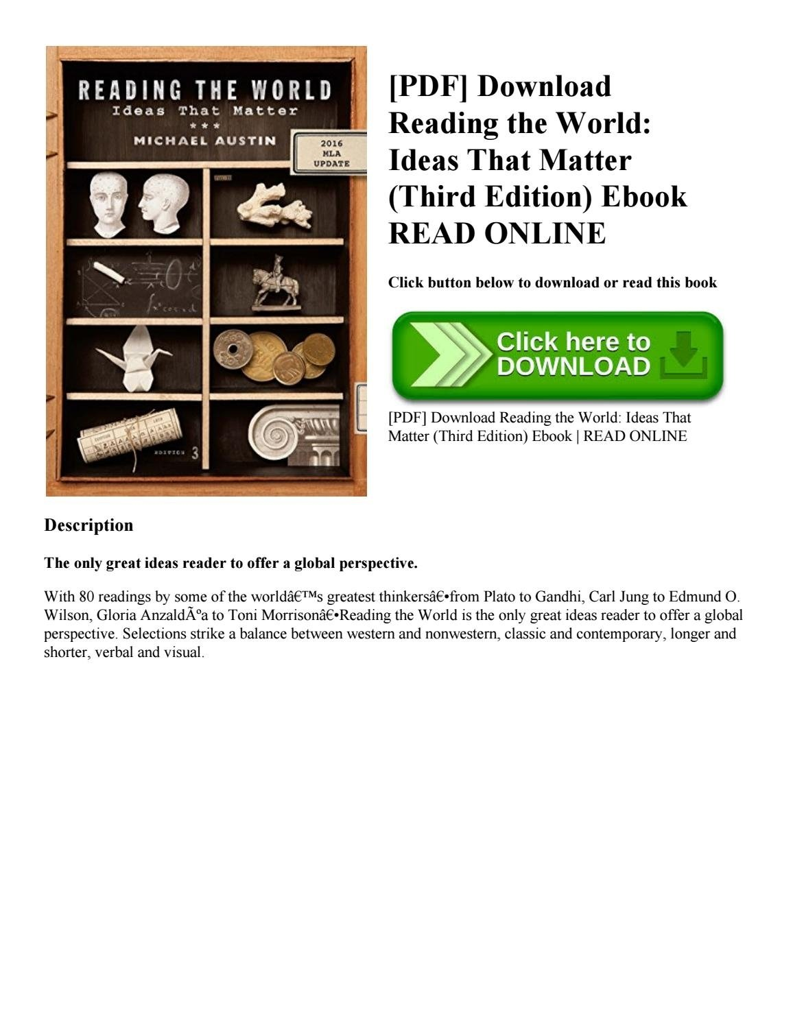pdf] download reading the world ideas that matter (third edition
