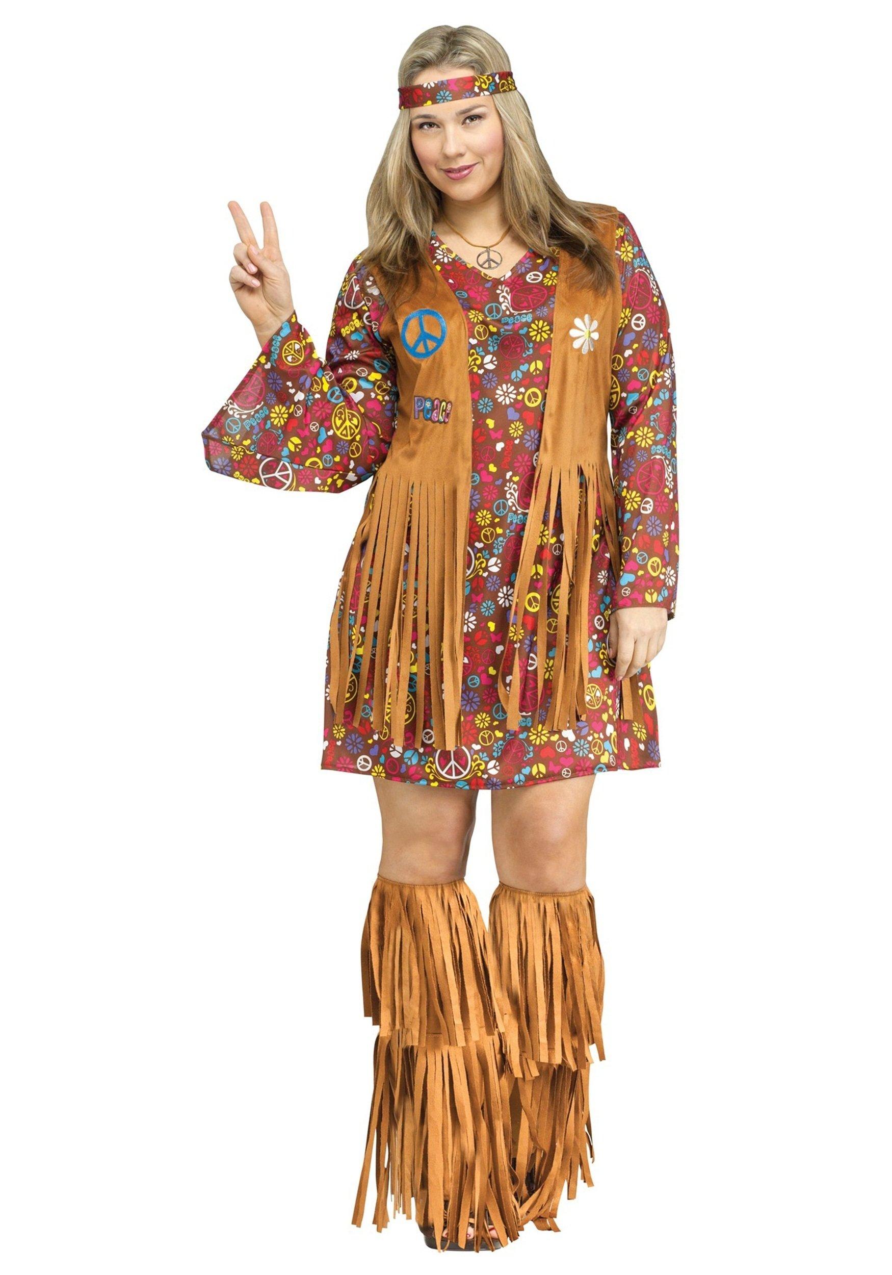 10 Cute Plus Size Halloween Costumes Ideas peace love plus size costume 2020