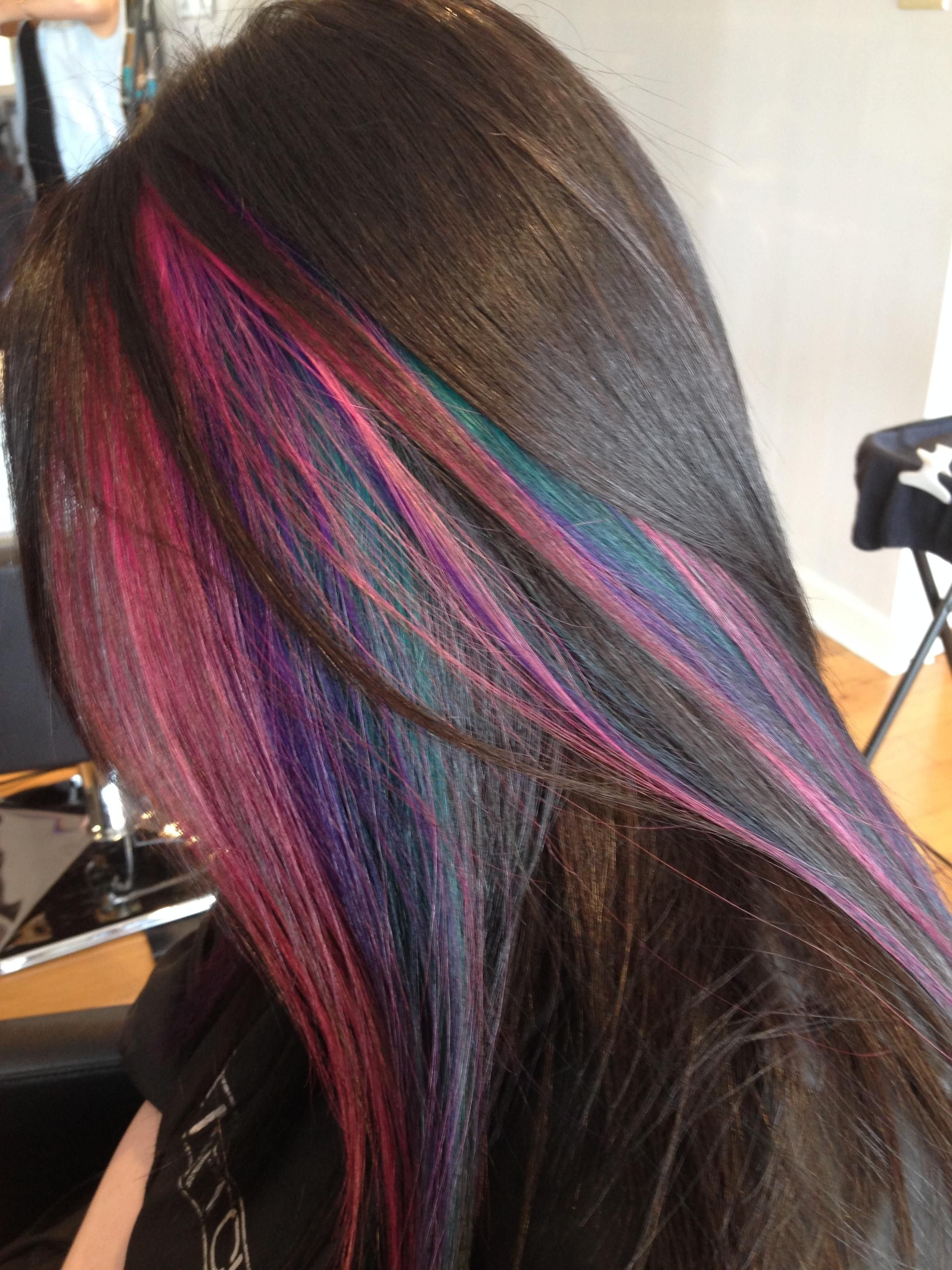 40 Ideas Of Peek A Boo Highlights For Any Hair Color Cool Hair