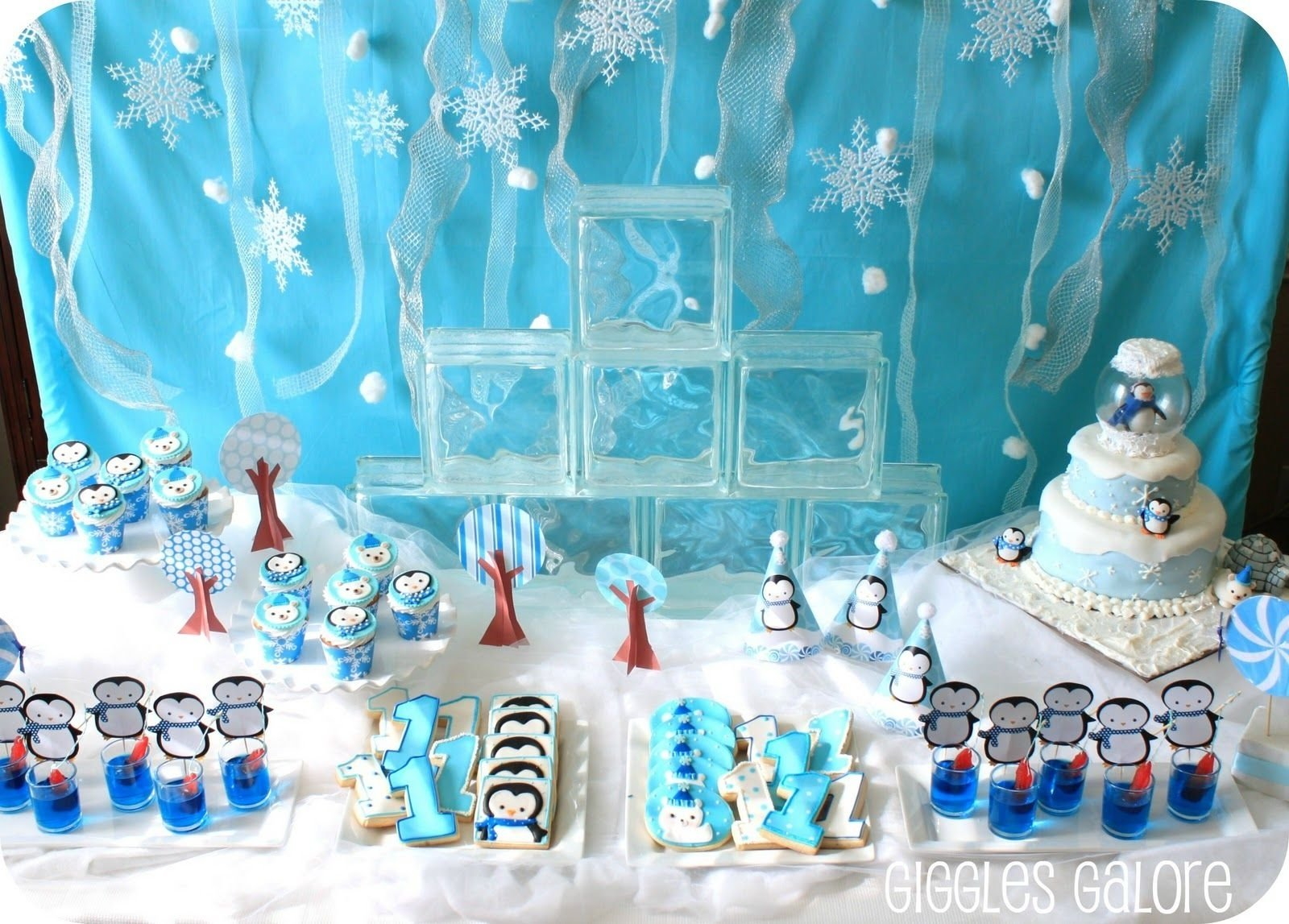 10 Attractive Winter Party Ideas For Kids penguins polar bears winter onederland birthday party winter 4