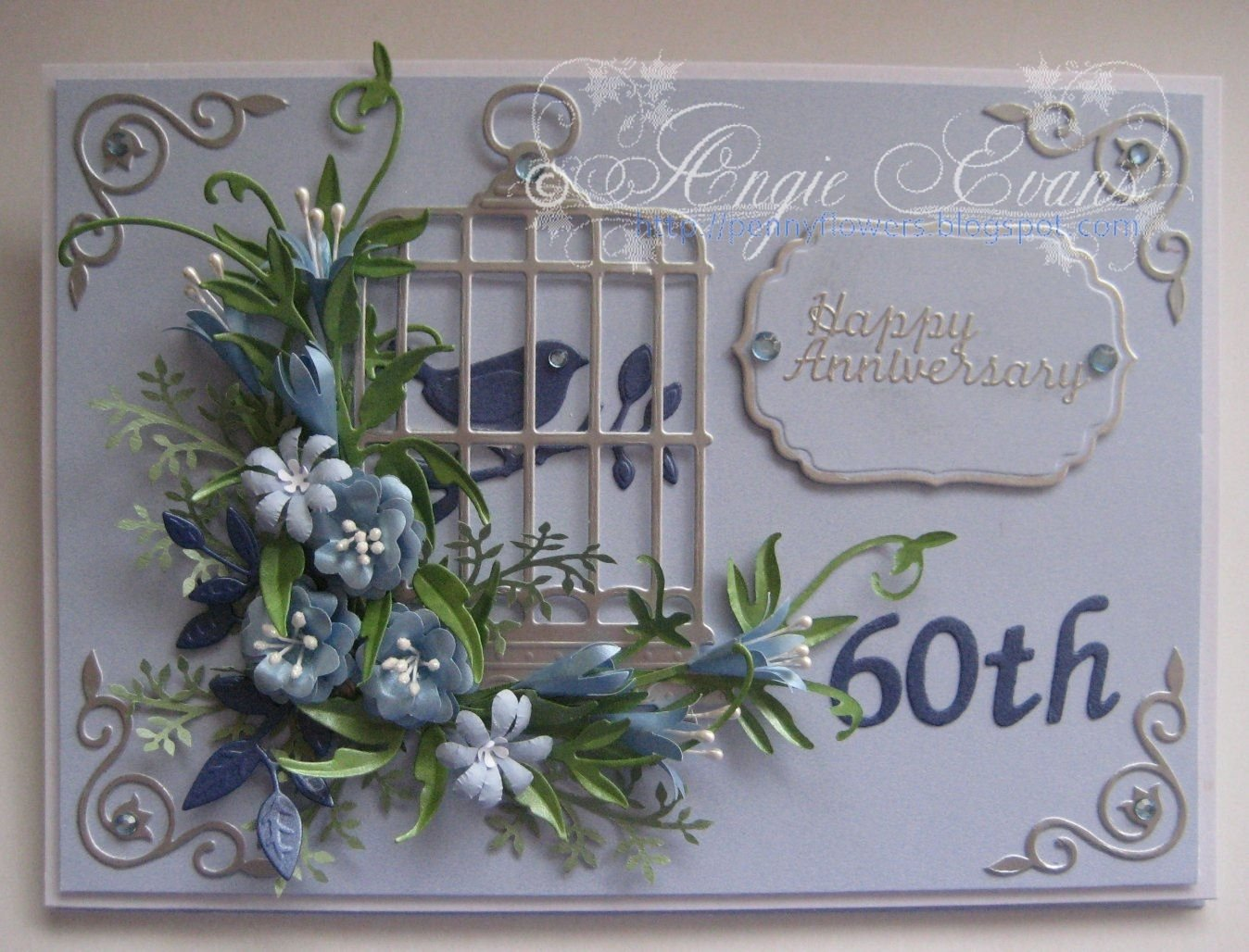 10 Fantastic Ideas For 60Th Wedding Anniversary penny flowers 60th wedding anniversary card 1 2020