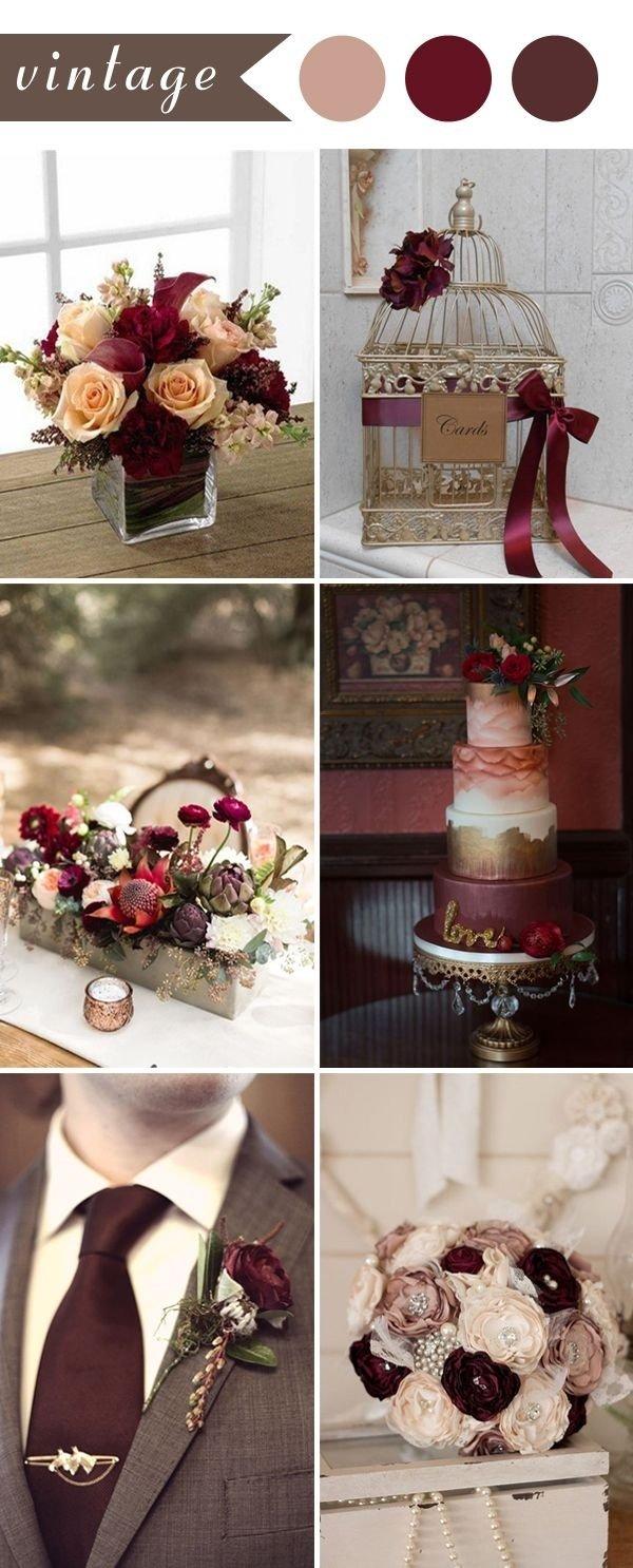 10 Stylish Vintage Wedding Ideas For Fall perfect burgundy wedding themes ideas for 2017 burgundy color 2020