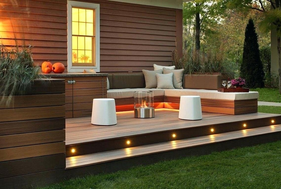 10 Stylish Deck Ideas With Fire Pit perfect deck fire pit ideas contemporary image of on wood modern 2021