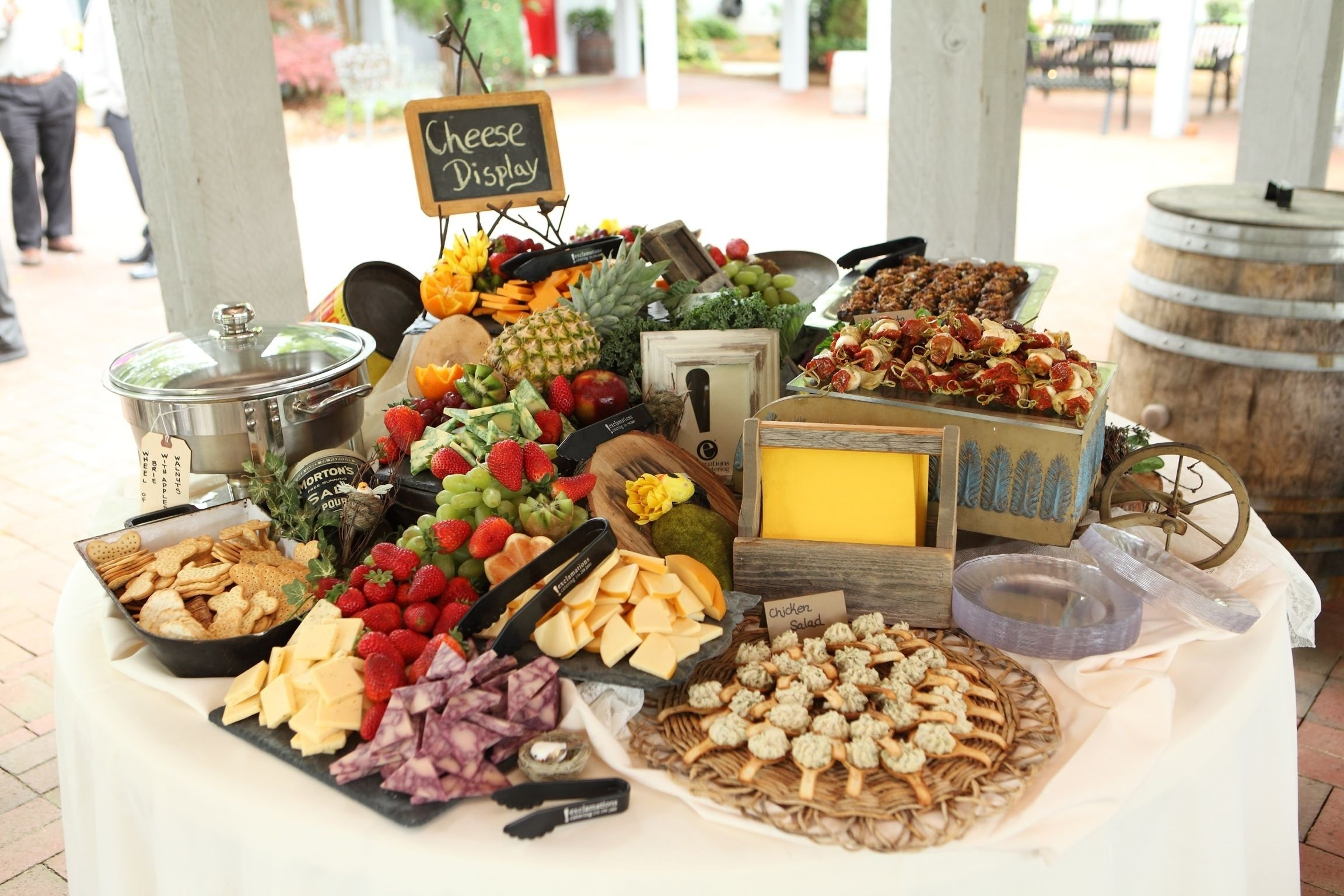 10 Fantastic Wedding Reception Food Menu Ideas perfect display of cheese crackers fruit finger foods etc for a 2 2021