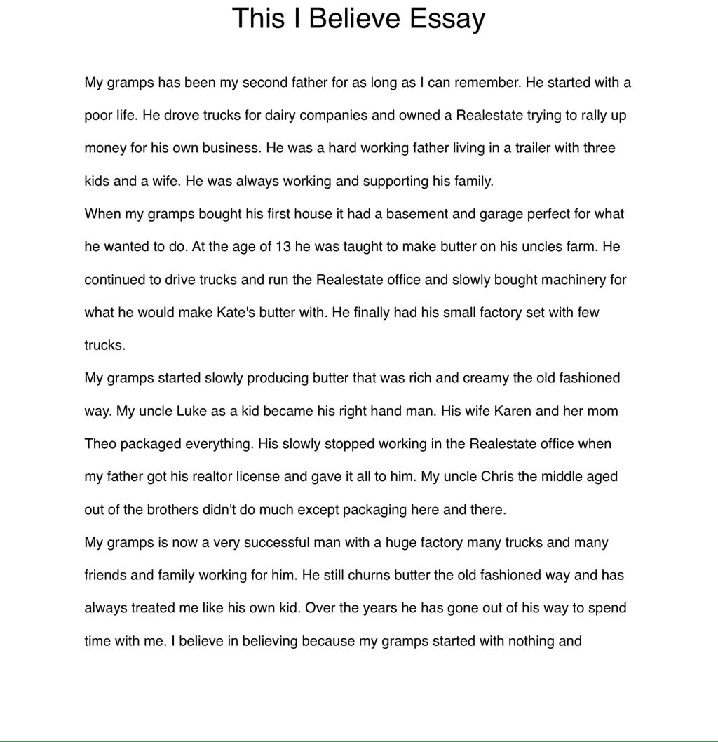 perfect family essay this i believe essay life long writers project